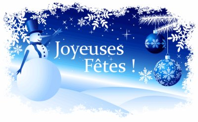 Joyeuses fêtes de fin d'année ...