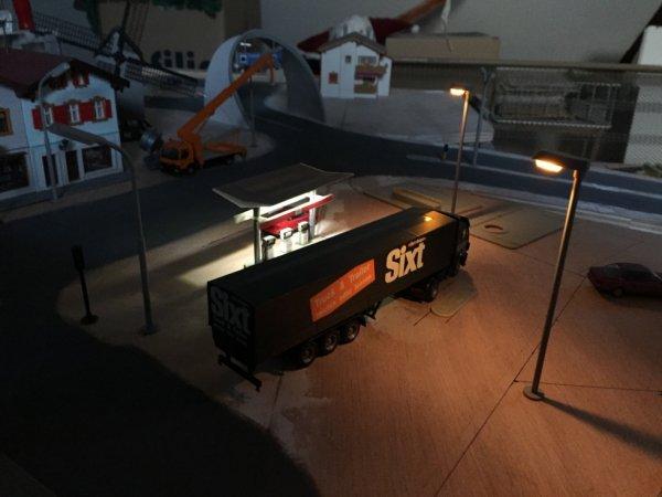 Aménagement de la station service Esso