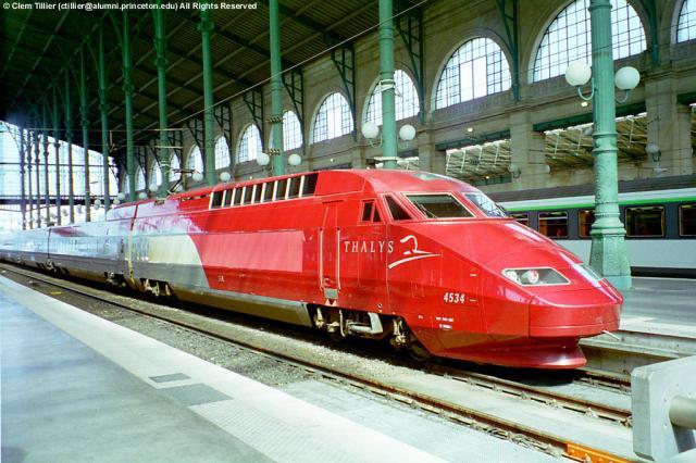 Ancien TGV Thalys ou TGV PBA (Paris,Bruxelles,Amsterdam)