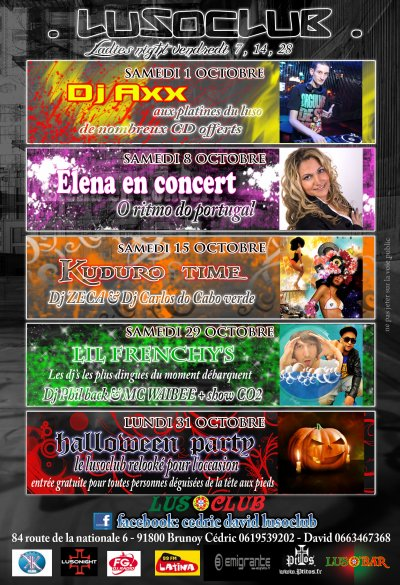 flyers LUSOCLUB octobre 2011