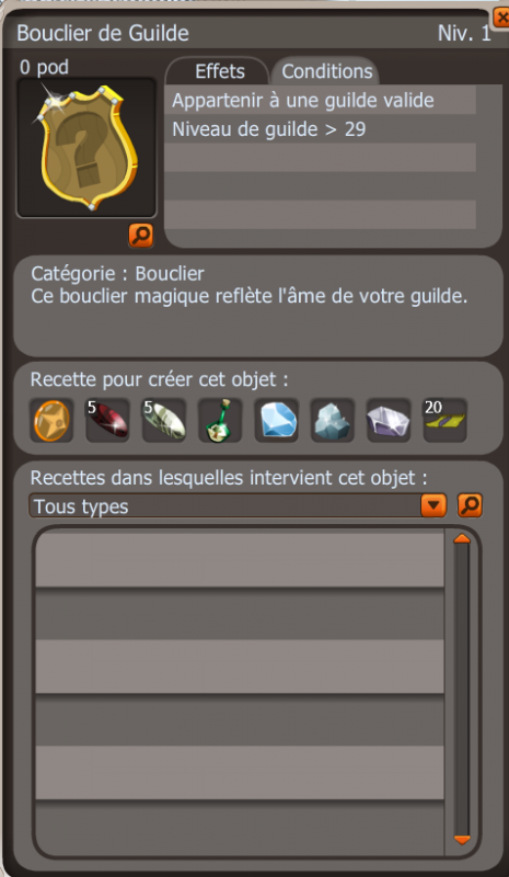 Bouclier de Guilde!