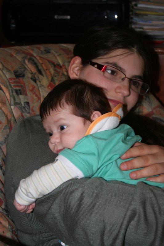 ma femme et notre fils.