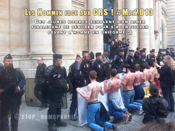Les #Hommen face aux CRS !