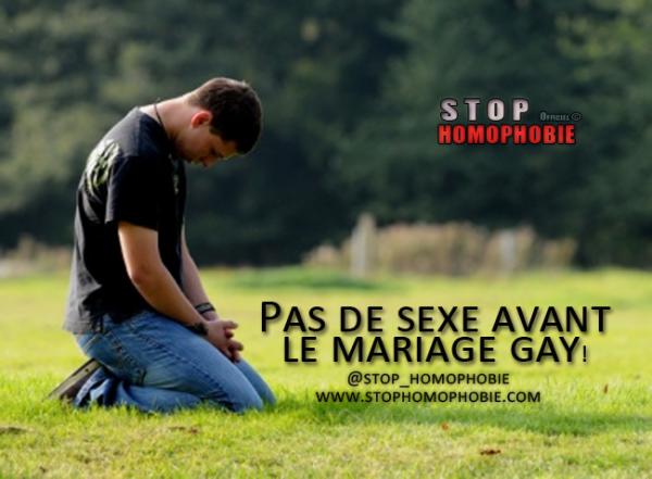 Pas de sexe avant le mariage gay!