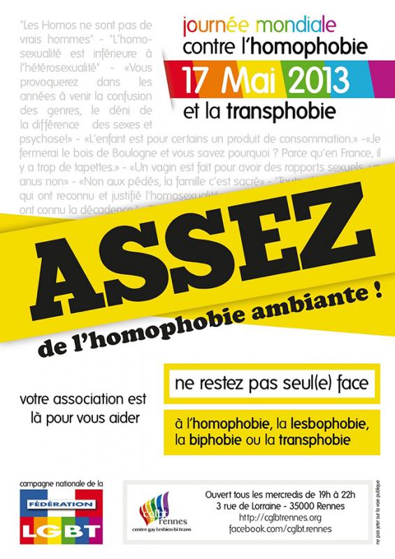 La Bretagne dit non à l'homophobie et la transphobie!