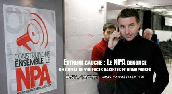 Extrême gauche : Le NPA dénonce un climat de violences racistes et homophobes