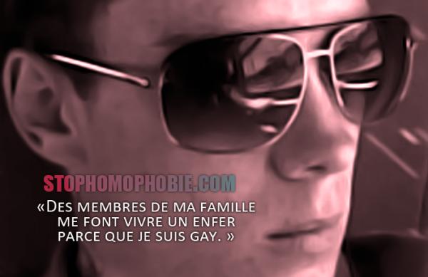 Homophobie : Témoignage de Mickael, 22 ans «Des membres de ma famille me font vivre un enfer parce que je suis gay. »