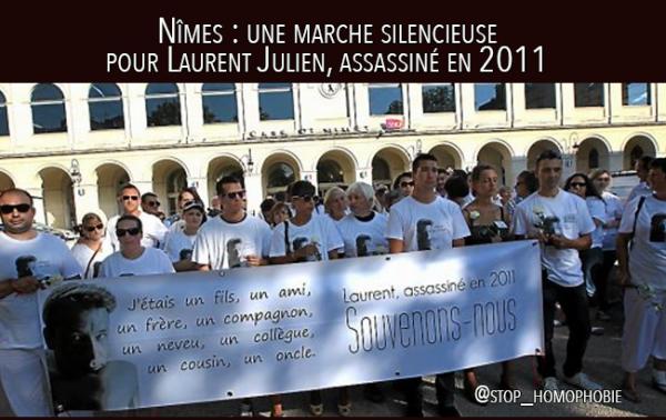 Nîmes : une marche silencieuse pour Laurent Julien, assassiné en 2011