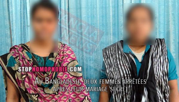 HOMOSEXUALITÉ INTERDITE : Au Bangladesh, deux femmes arrêtées après leur mariage secret