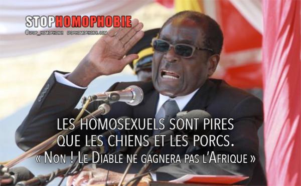 Portrait – Robert Mugabe : les homosexuels « sont pires que les chiens et les porcs » Non ! « Le Diable ne gagnera pas l'Afrique »