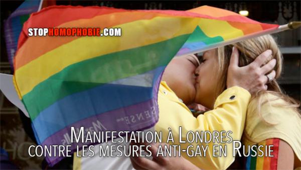Manifestation à Londres contre les mesures anti-gay en Russie