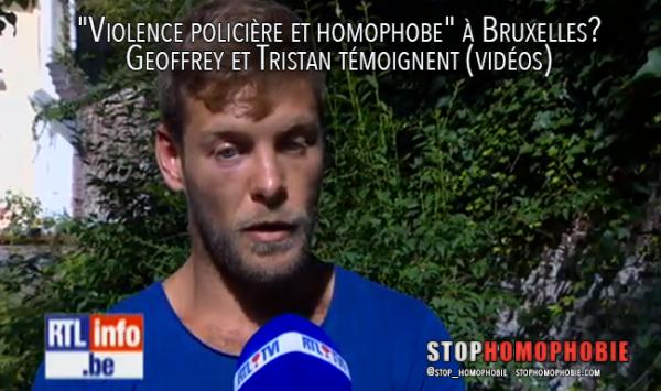 « Violence policière et homophobe » à Bruxelles? Geoffrey et Tristan témoignent (vidéos)