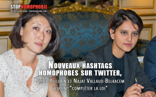 Najat Vallaud-Belkacem et Fleur Pellerin condamnent fermement les propos homophobes émis sur Twitter