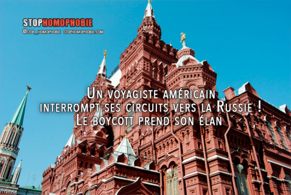 BOYCOTT : Un voyagiste américain interrompt ses circuits vers la Russie !
