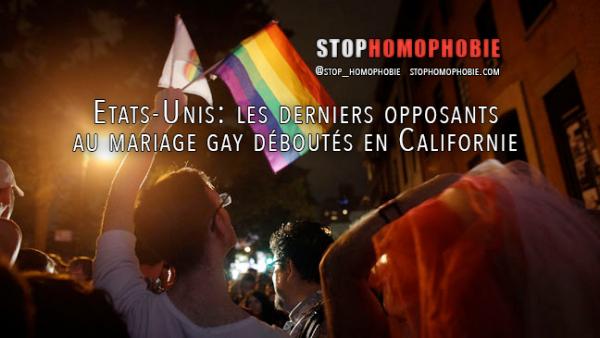 Etats-Unis: les derniers opposants au mariage gay déboutés en Californie