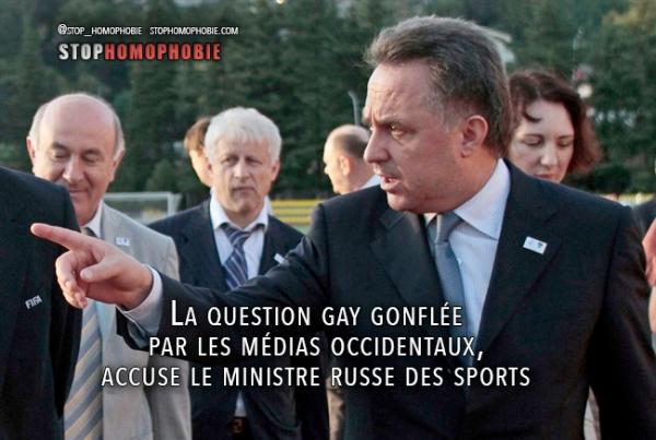 JO-2014 : La question gay gonflée par les médias occidentaux, accuse le ministre russe des Sports