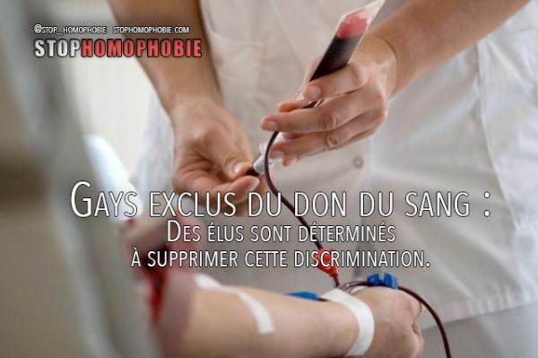 Suisse – Gays exclus du don du sang : Des élus sont déterminés à supprimer cette discrimination.