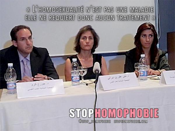 Liban : « L'homosexualité n'est pas une maladie ; elle ne requiert donc aucun traitement »