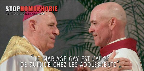 Hawaii : Pour l'évêque Silva, le mariage gay est cause de suicide chez les adolescents