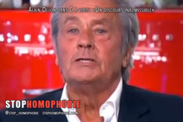 Propos homophobes : « l'homosexualité est contre-nature » par Alain Delon