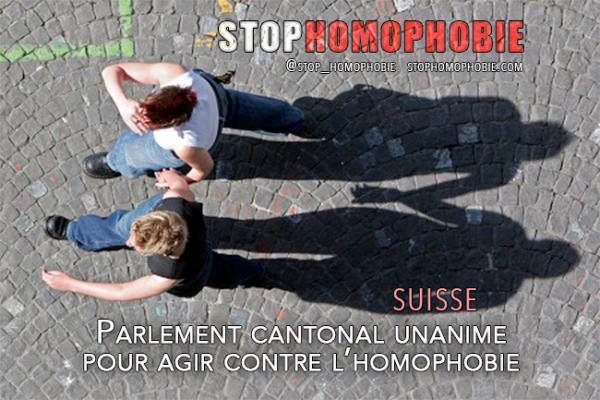 Suisse : Parlement cantonal unanime pour agir contre l'homophobie