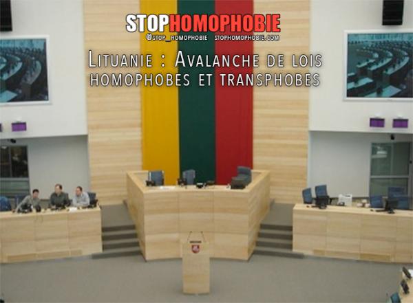 Lituanie : Avalanche de lois homophobes et transphobes