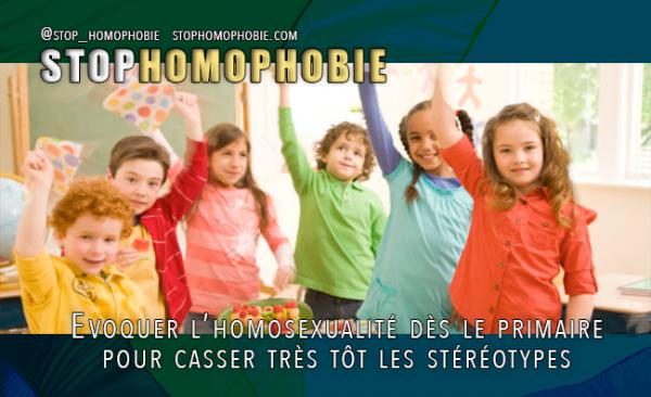 Evoquer l'homosexualité dès le primaire pour casser très tôt les stéréotypes