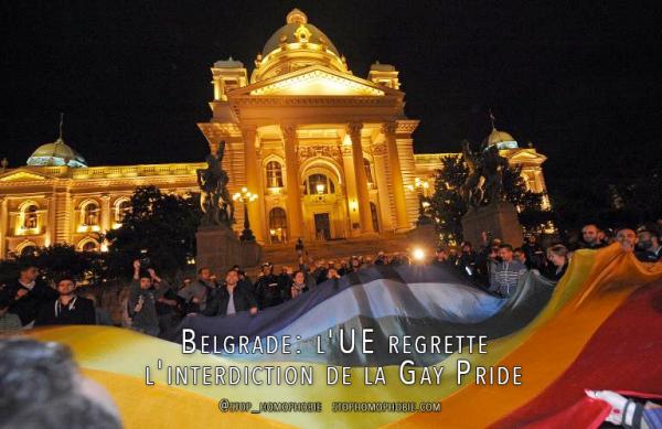 Belgrade: l'UE condamne l'interdiction de la Gay Pride