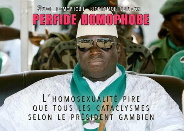 Homophobie et sournoiseries : L'homosexualité pire que tous les cataclysmes, selon le leader gambien