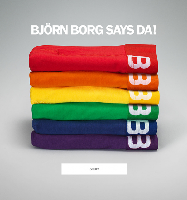 #ToRussiaWithLove : Björn Borg says DA! to our LGBT friends!