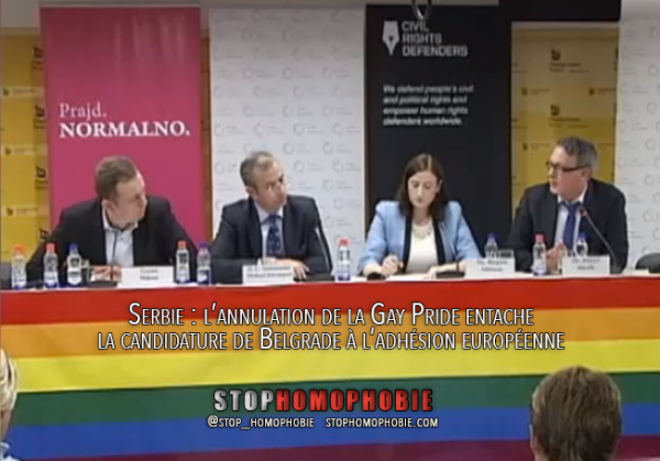 Serbie : l'annulation de la #GayPride entache la candidature de #Belgrade à l'adhésion #européenne