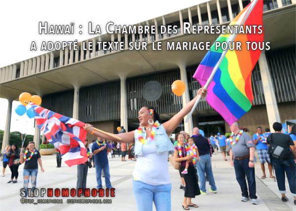 Hawaï : La Chambre des Représentants a adopté le texte sur le mariage gay