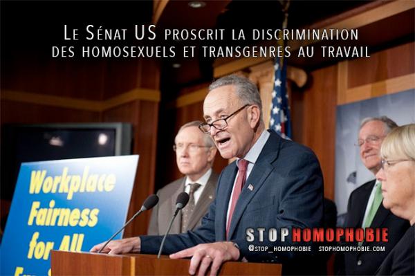 ÉTATS-UNIS : Interdiction des #discriminations contre les #homosexuels et personnes #transgenres sur le lieu de travail