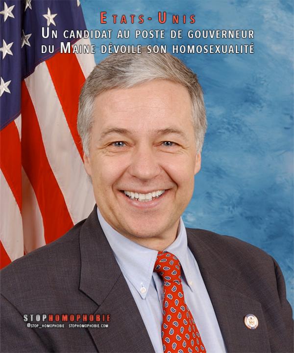 Etats-Unis : Un candidat au poste de gouverneur du Maine dévoile son homosexualité