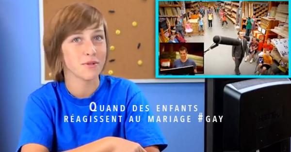En vidéo : Quand des enfants réagissent au mariage #gay