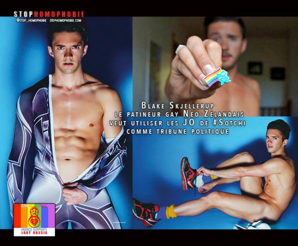 Blake #Skjellerup, le #patineur #gay Néo-Zélandais veut utiliser les #JO de #Sotchi comme #tribune #politique