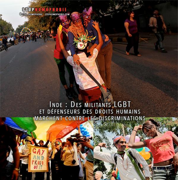 Inde : Des militants LGBT et défenseurs des droits humains marchent contre les discriminations