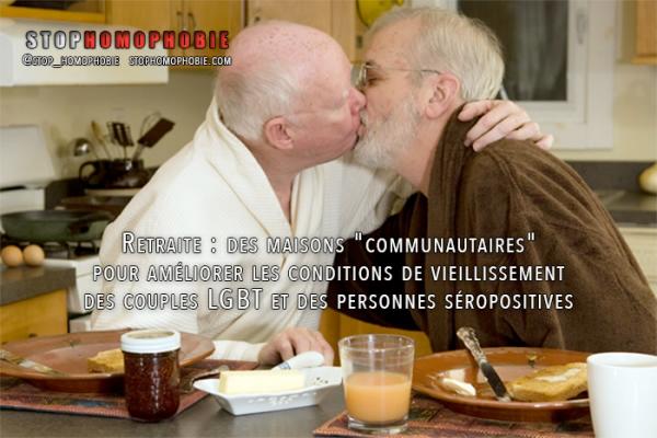 Retraite: maisons « communautaires » pour les homosexuels et personnes séropositives