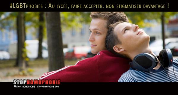 #LGBTphobies : Au lycée, faire accepter, non stigmatiser davantage !