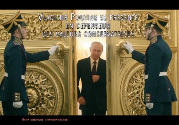 #Russie : Quand #VladimirPoutine se présente en défenseur des valeurs conservatrices