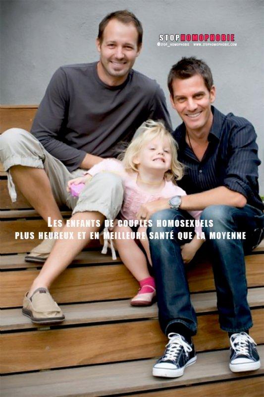 Les enfants de couples homosexuels seraient plus heureux et en meilleure santé que la moyenne