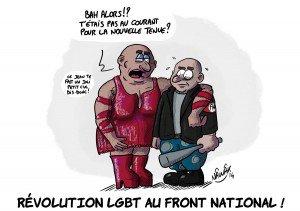 Rififi au FN : l'aile traditionaliste accuse Marine Le Pen de faire entrer des homos dans l'organigramme du parti