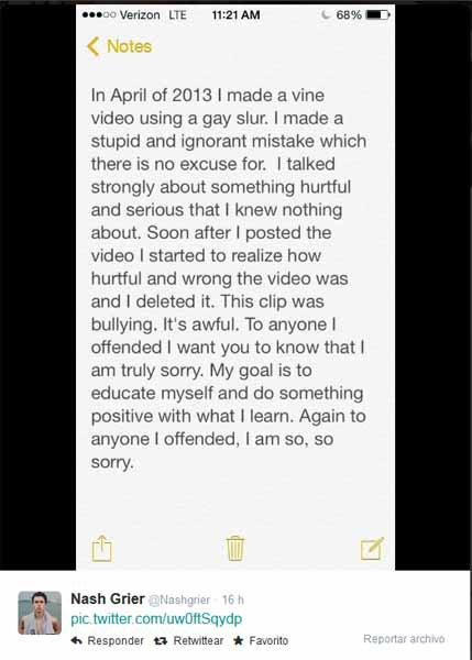 Nash Grier ou la dangereuse homophobie d'une jeune star des réseaux sociaux