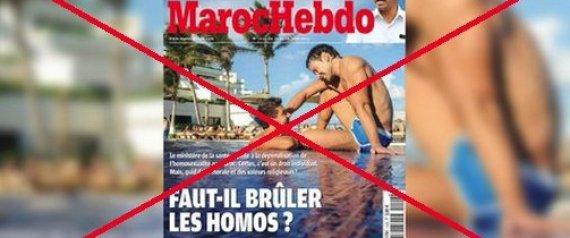 """""""Faut-il brûler les homos?"""": Une association française poursuit en justice le directeur de """"Maroc Hebdo"""" pour sa une jugée homophobe"""