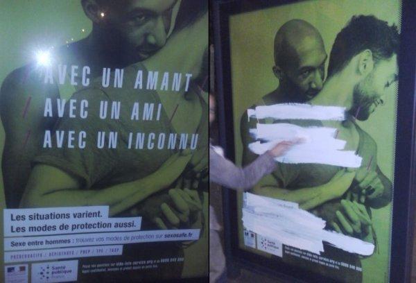 Vandalisme, menace de plainte : une campagne de prévention du VIH excite la droite dure