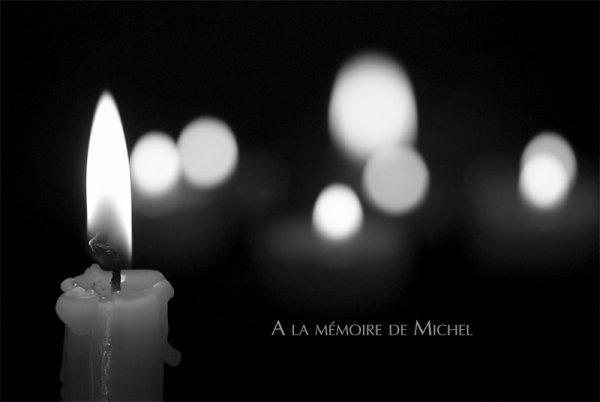 A la mémoire de Michel, victime d'une agression homophobe dont « il ne s'est jamais remis
