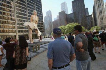 Statue de Marilyn à Chicago
