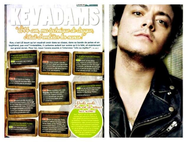 4 Questions posées à Kev' Adams lors de son inteview dans Fan2 ♥