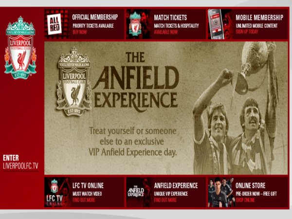 Site officiel de Liverpool FC