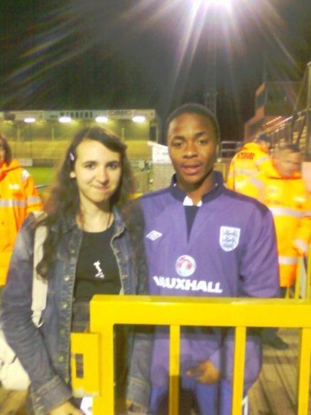 Ma photos avec le jeune Raheem Sterling le 28.03.2011